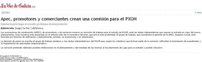 La asociación de promotores, entre otras...crearon un comisión de trabajo para el estudio de PXOM